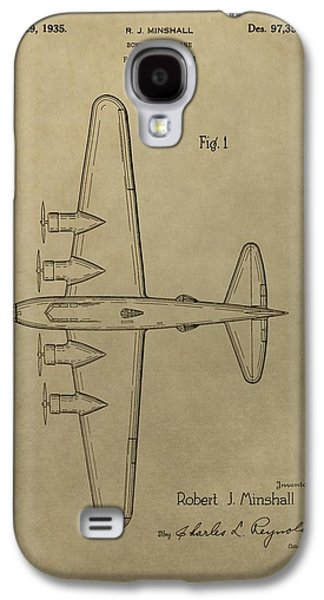 1935 Bombing Airplane Patent Galaxy S4 Case by Dan Sproul