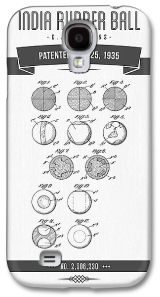 1935 India Rubber Ball Patent Drawing - Retro Gray Galaxy S4 Case by Aged Pixel