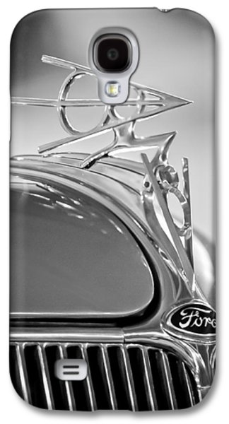 1936 Ford Deluxe Roadster Hood Ornament 2 Galaxy S4 Case by Jill Reger