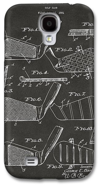 1936 Golf Club Patent Artwork - Gray Galaxy S4 Case by Nikki Marie Smith