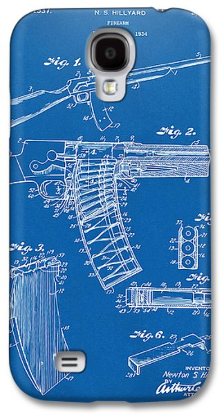1937 Police Remington Model 8 Magazine Patent Artwork - Blueprin Galaxy S4 Case by Nikki Marie Smith