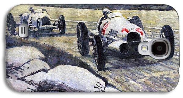 1937 Rudolf Caracciola Winning Swiss Gp W 125 Galaxy S4 Case by Yuriy Shevchuk