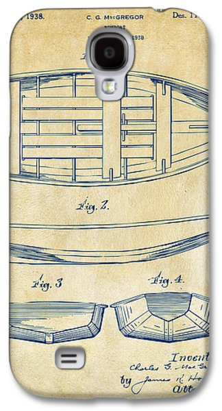 1938 Rowboat Patent Artwork - Vintage Galaxy S4 Case by Nikki Marie Smith