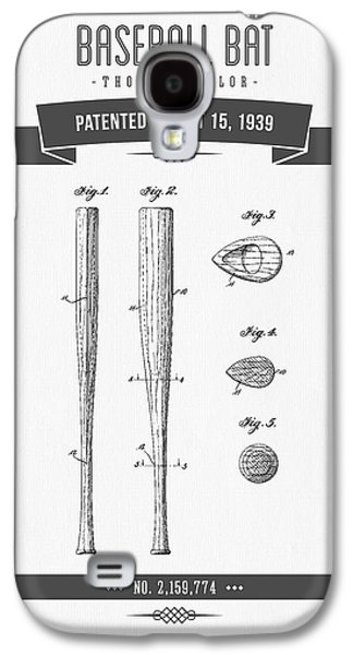 1939 Baseball Bat Patent Drawing Galaxy S4 Case by Aged Pixel