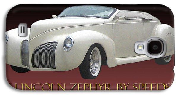 1939 Lincoln Zephyr Poster Galaxy S4 Case by Jack Pumphrey