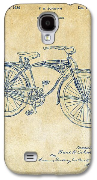Bicycle Galaxy S4 Case - 1939 Schwinn Bicycle Patent Artwork Vintage by Nikki Marie Smith