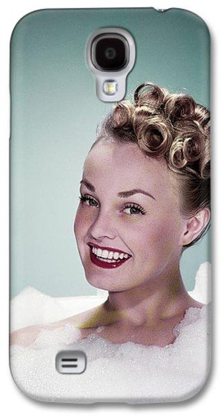1940s Portrait Smiling Teen Girl Galaxy S4 Case