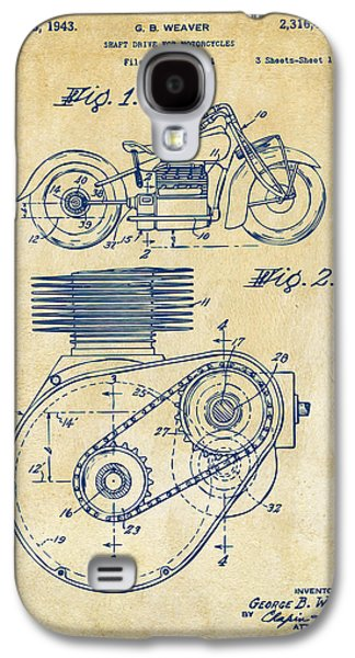 1941 Indian Motorcycle Patent Artwork - Vintage Galaxy S4 Case by Nikki Marie Smith