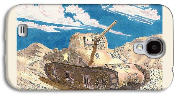 1943 Sherman M 4 Medium Taqnk Galaxy S4 Case by Jack Pumphrey