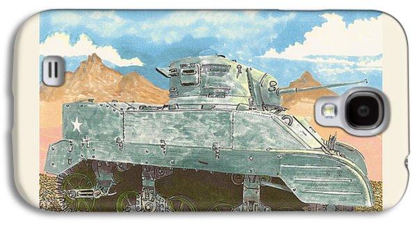 1943 Stuart M-5 Light Tank Combat Galaxy S4 Case by Jack Pumphrey