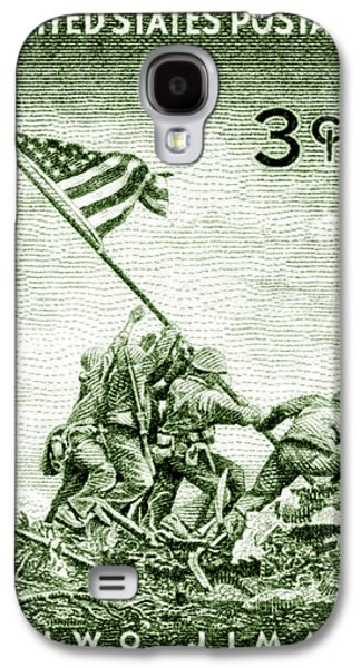 1945 Marines On Iwo Jima Stamp Galaxy S4 Case by Historic Image