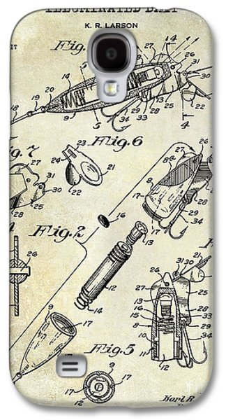 1940 Illuminated Bait Patent Drawing Galaxy S4 Case