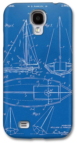 1948 Sailboat Patent Artwork - Blueprint Galaxy S4 Case by Nikki Marie Smith