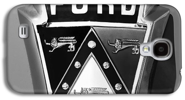 1950 Ford Custom Deluxe Station Wagon Emblem Galaxy S4 Case by Jill Reger
