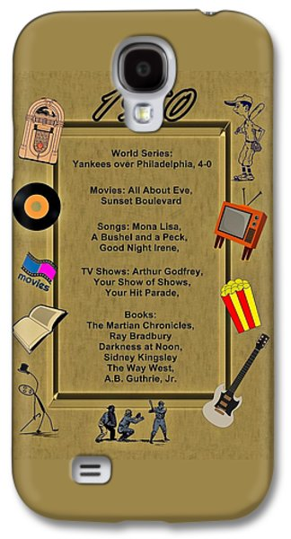 1950 Great Events Galaxy S4 Case by Movie Poster Prints