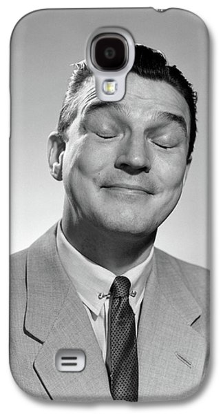 1950s Man Smiling Eyes Closed Thinking Galaxy S4 Case