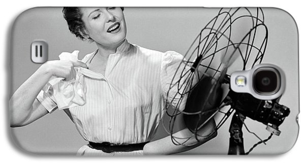 1950s Woman Cooling With Swivel Fan Galaxy S4 Case