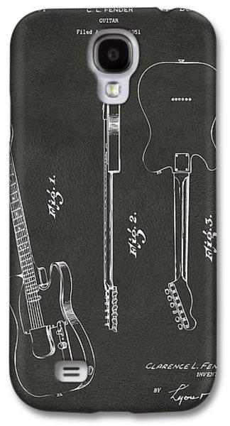 1951 Fender Electric Guitar Patent Artwork - Gray Galaxy S4 Case