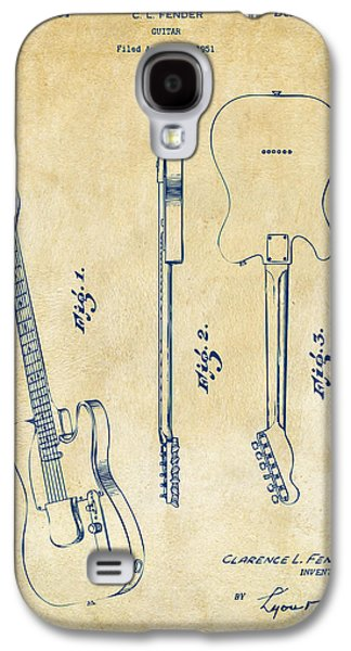 1951 Fender Electric Guitar Patent Artwork - Vintage Galaxy S4 Case