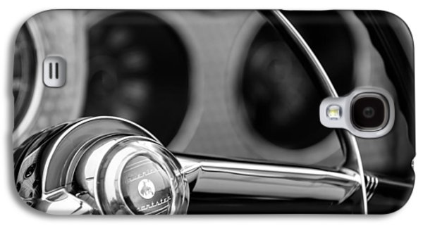 1952 Sterling Gladwin Maverick Sportster Steering Wheel Emblem -1848bw Galaxy S4 Case by Jill Reger