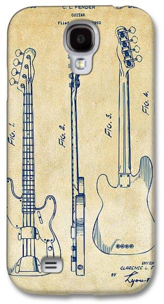 1953 Fender Bass Guitar Patent Artwork - Vintage Galaxy S4 Case