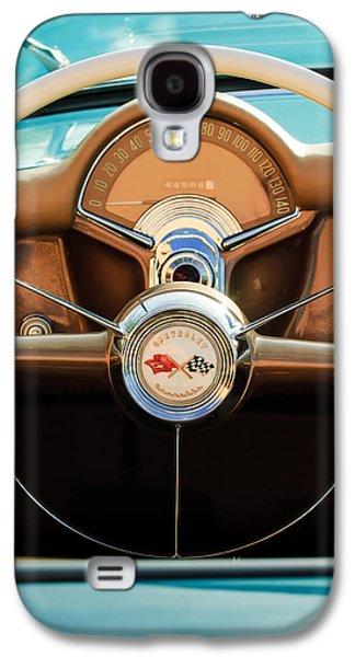 1954 Chevrolet Corvette Convertible  Steering Wheel Galaxy S4 Case by Jill Reger
