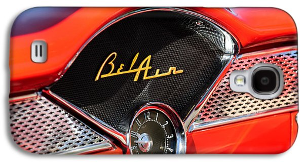 1955 Chevrolet Belair Dashboard Emblem Clock Galaxy S4 Case by Jill Reger