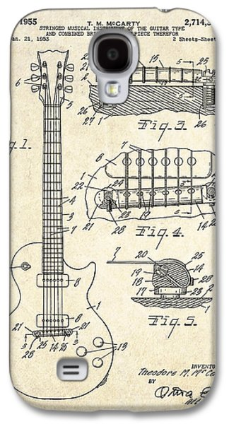 1955 Gibson Les Paul Patent Drawing Galaxy S4 Case