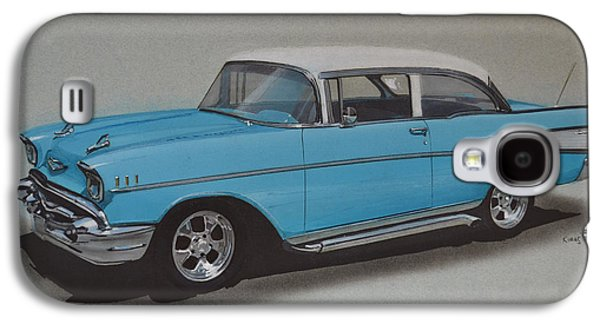 1957 Bel Air Galaxy S4 Case by Paul Kuras