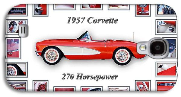 1957 Chevrolet Corvette Art Galaxy S4 Case by Jill Reger