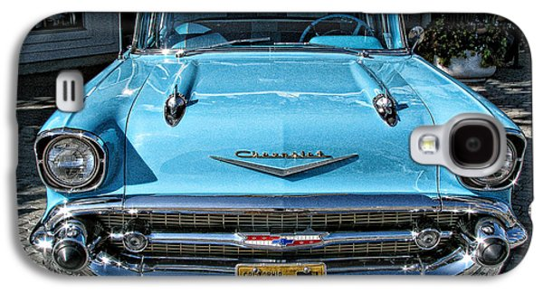 1957 Chevy Bel Air In Turquoise Galaxy S4 Case by Samuel Sheats