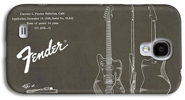 1958 Fender Electric Guitar Patent Art 2 Galaxy S4 Case