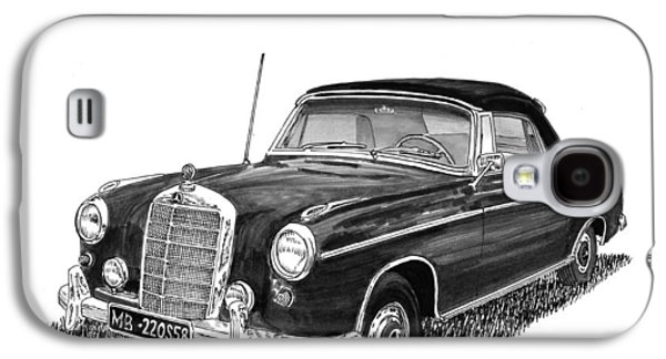 1958 Mercedes Benz 220s Galaxy S4 Case by Jack Pumphrey