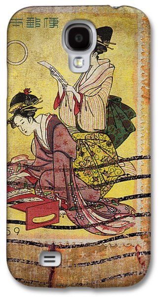 1959 Japanese Postcard Mail Galaxy S4 Case by Carol Leigh