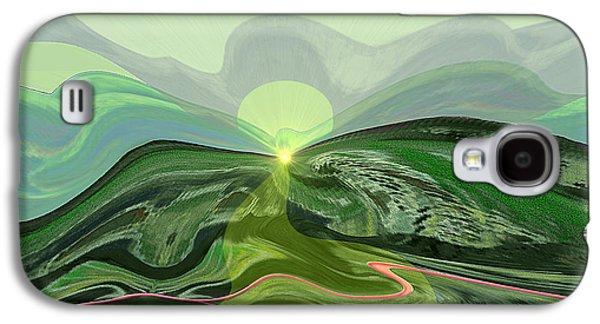 196 - Mountain-morning   Galaxy S4 Case by Irmgard Schoendorf Welch