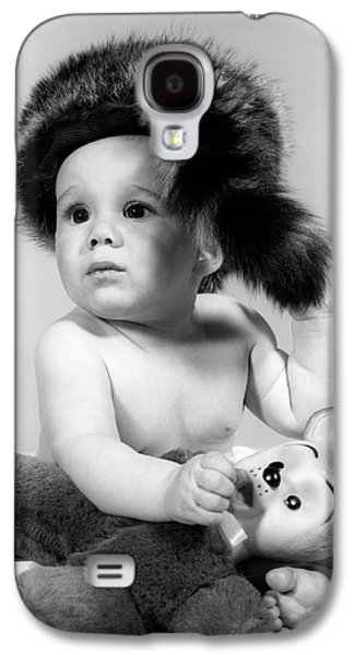 1960s Baby Wearing Coonskin Hat Galaxy S4 Case