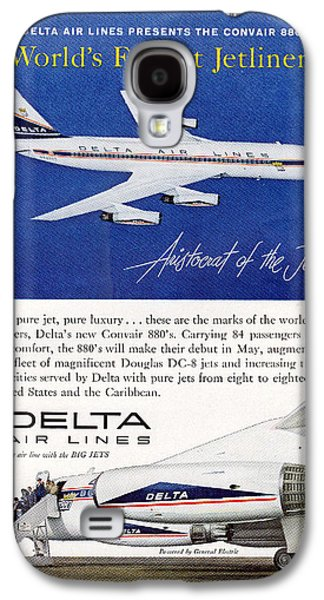 1960s Delta Convair 880 Ad Galaxy S4 Case