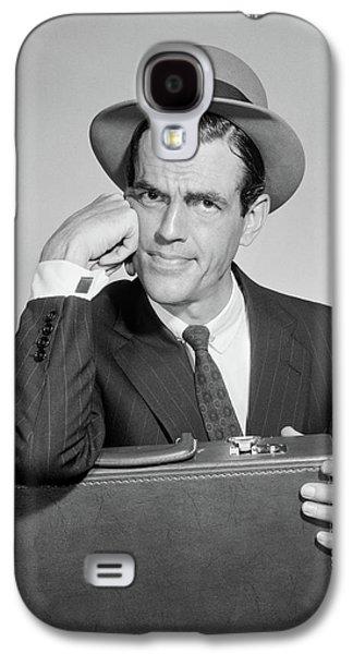 1960s Salesman Holding Briefcase In Lap Galaxy S4 Case