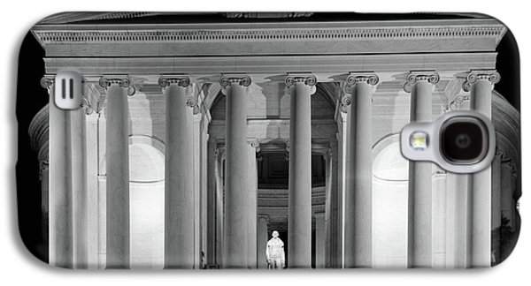 Jefferson Memorial Galaxy S4 Case - 1960s Thomas Jefferson Memorial Lit by Vintage Images