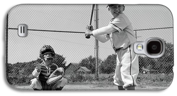 1960s Two Boys Playing Baseball Batter Galaxy S4 Case