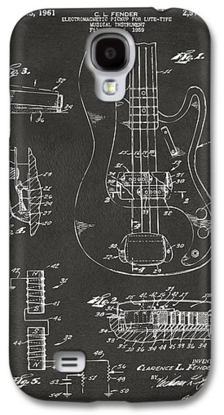 1961 Fender Guitar Patent Artwork - Gray Galaxy S4 Case by Nikki Marie Smith