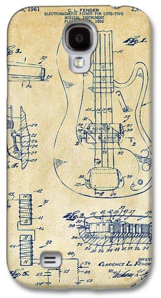 1961 Fender Guitar Patent Artwork - Vintage Galaxy S4 Case