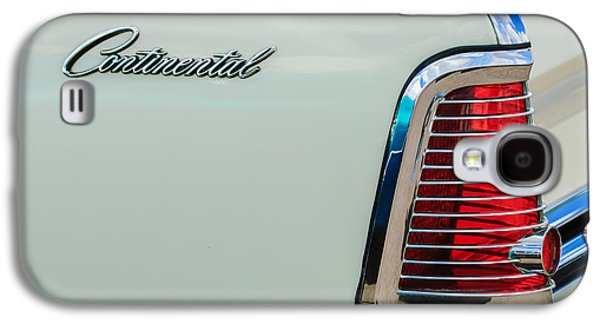 1963 Lincoln Continental Taillight Emblem -0905bw Galaxy S4 Case by Jill Reger