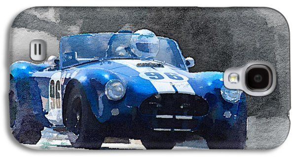 Cobra Galaxy S4 Case - 1964 Ac Cobra Shelby Racing Watercolor by Naxart Studio
