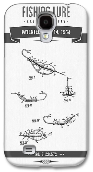 1964 Fishing Lure Patent Drawing Galaxy S4 Case by Aged Pixel