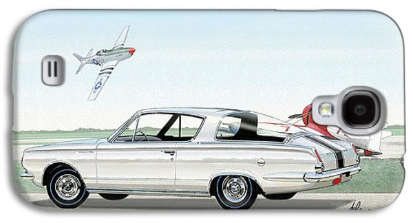 1965 Barracuda  Classic Plymouth Muscle Car Galaxy S4 Case by John Samsen