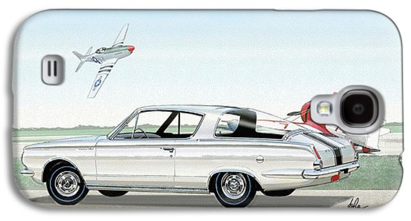 1965 Barracuda  Classic Plymouth Muscle Car Galaxy S4 Case by John Samsen