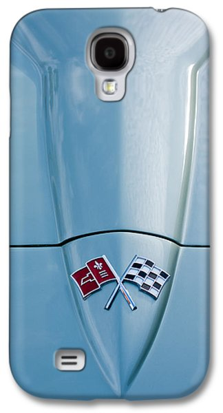 1966 Chevrolet Corvette Coupe Hood Emblem Galaxy S4 Case by Jill Reger