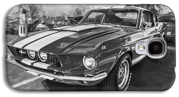 1967 Ford Shelby Mustang Gt500 Painted Bw Galaxy S4 Case by Rich Franco