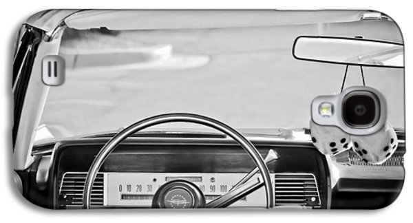 1967 Lincoln Continental Steering Wheel -014bw Galaxy S4 Case by Jill Reger